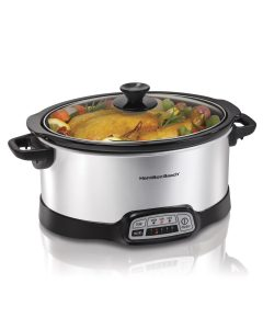 Hamilton Beach 33473 Programmable Slow Cooker Silver
