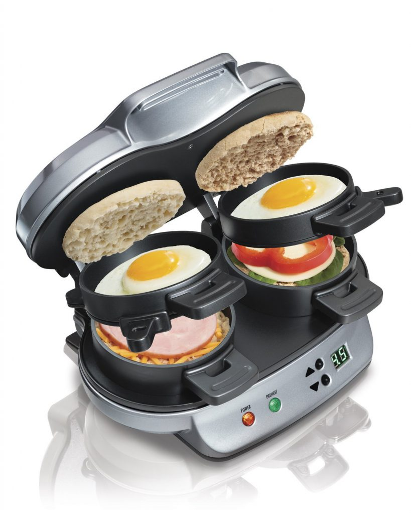 Hamilton Beach 25490 Dual Breakfast Sandwich Maker - Silver