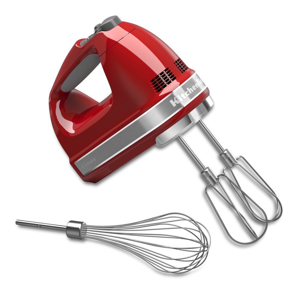 KitchenAid Model KHM7210 7-Speed Digital Hand Mixer - Empire Red