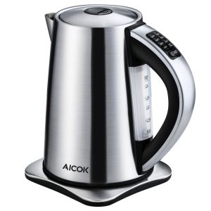 Aicok 6-Temperature Electric Control Tea Kettle - Stainless Steel