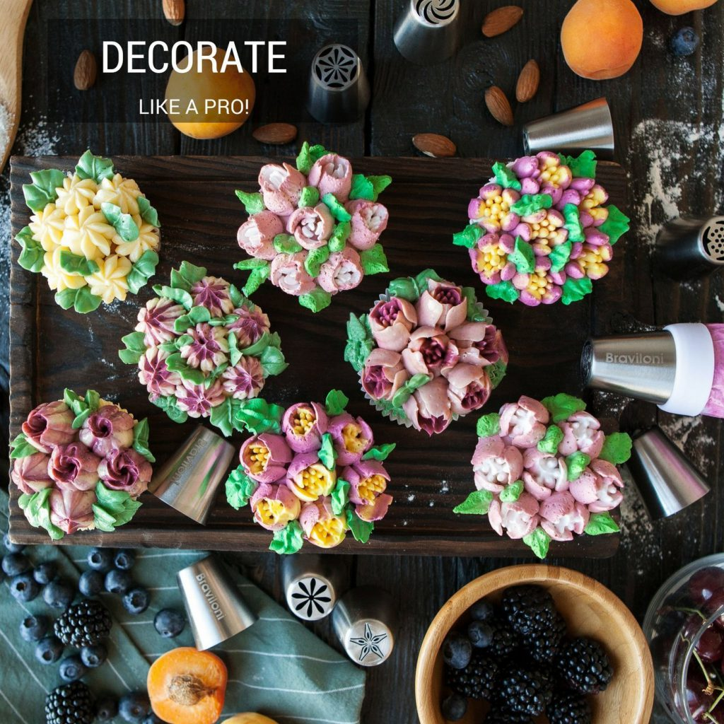 Braviloni Russian Icing Tips - Decorate Like A Pro