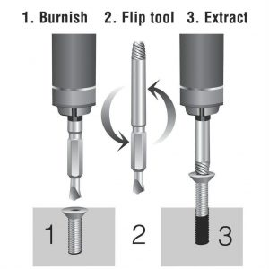 Easy Out Drill Bit Extractor Steps