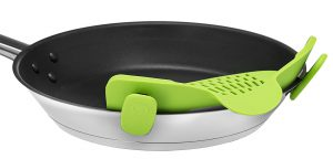 Clip On Strainer - On A Pan