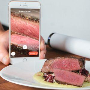 Joule Sous Vide Cooking Steak Using App
