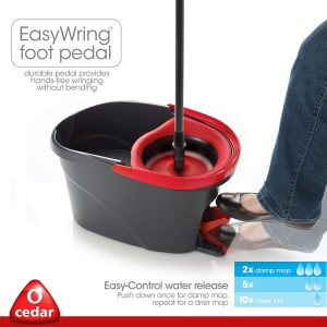 O Cedar Easy Wring Spin Mop And Bucket System Pros Cons