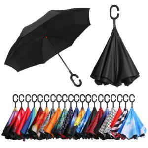 Bagail Inverted Umbrella Colors C-Shape Handle