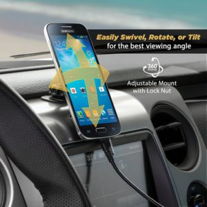 SCOSCHE Magnetic Phone Holder Attached To Car Dashboard