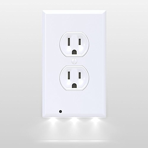 SnapPower Guidelight Duplex Style with LED Lights On White