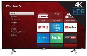 TCL Roku 4K HDR TV - Home Screen