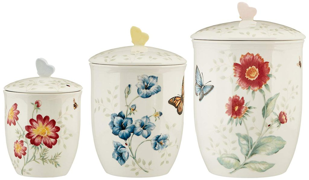 Lenox 3 Piece Butterfly Meadow Canister Set