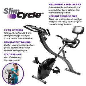 Slim Cycle 2-In-1 Stationary Bike Features