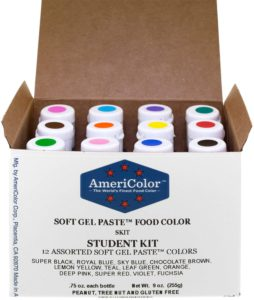 AmeriColor Student Food Coloring Kit 12 Color Box