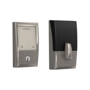 Schlage Encode Lock Century Style - Satin Nickel