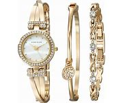 Anne Klein Womens Bangle Watch Bracelet Set