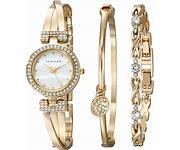 Anne Klein Womens Bangle Watch Bracelet Set