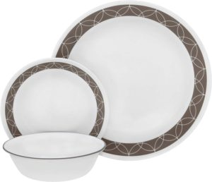 Corelle 18-Piece Dinnerware Set Sand Sketch Pattern