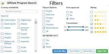Filter the Network Programs Based On Your Needs and Goals