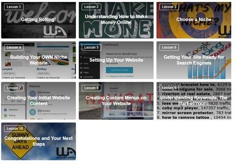 Wealthy Affiliate Online Entrepreneur Certification Training Lessons Section I