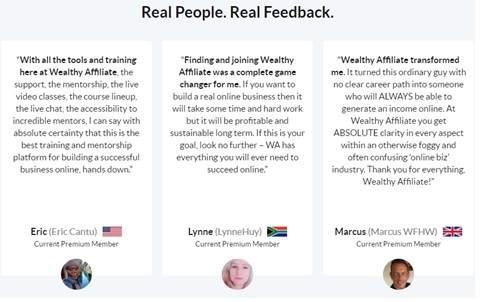Wealthy Affiliate Program Real People Real Feedback