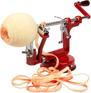 Apple Peeler and Corer Cucina Pro Red