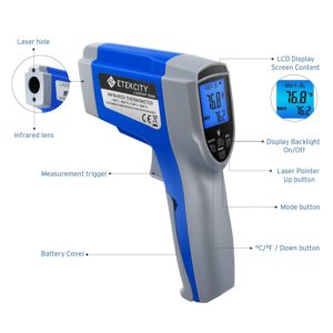 Etekcity Dual Laser Thermometer Features