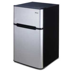 Mini Refrigerator Silver & Black