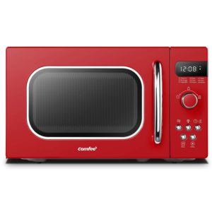 Best Compact Countertop Microwave Ovens - COMFEE AM720C2RA-R Compact Microwave Oven Red