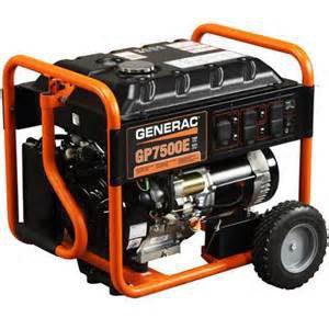 Generac Portable Generator | Generac GP7500E Portable Generator