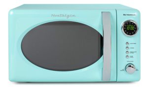 Best Compact Countertop Microwave Ovens - Nostalgia RMO7AQ Compact Microwave Oven Aqua