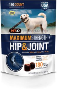 Best Dog Vitamin Supplements - VetIQ Maximum Strength Hip and Joint Support