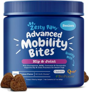 Best Dog Vitamin Supplements - Zesty Paws Advanced Hip and Joint Support