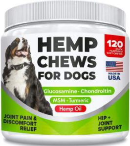 Best Dog Vitamin Supplements - All Natural Hemp Chew Hip and Joint Support r