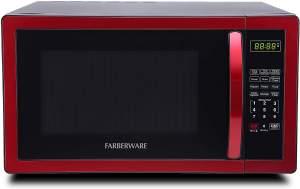 Best Mid-Size Microwaves - Farberware FMO11AHTBKN Red r