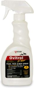 Dog Flea Tick Spray - Vet-Kem Ovitrol Plus 16 oz.