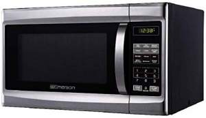 Emerson MW1338SB Mid-Size Microwave Stainless Steel Black r