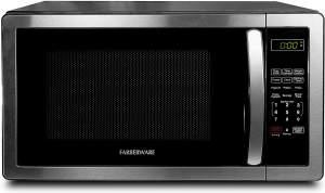 Farberware FMO11AHTBKB Mid Size Microwave Stainless Steel r
