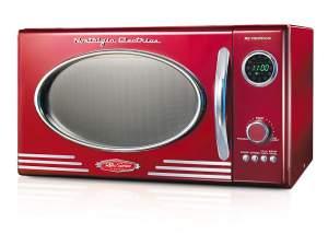 Nostalgia RMO4RR Mid-Size Microwave Red
