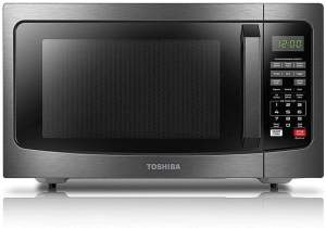 Toshiba EM131A5C-BS Mid-Size Microwave Black Stainless Steel