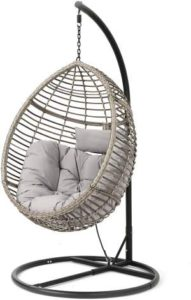 Wicker Hanging Egg Chairs - Christopher Knight Home Grey-Black r