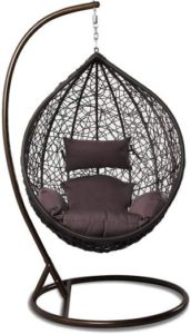 Wicker Hanging Egg Chairs - Island Gale Egg Chair Brown r