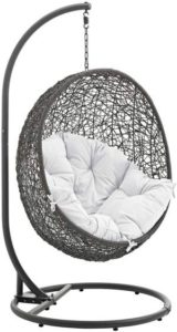 Wicker Hanging Egg Chairs - Modway Egg Chair Gray r