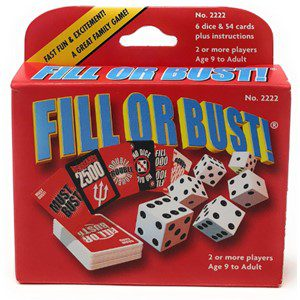 Fill Or Bust Dice Game