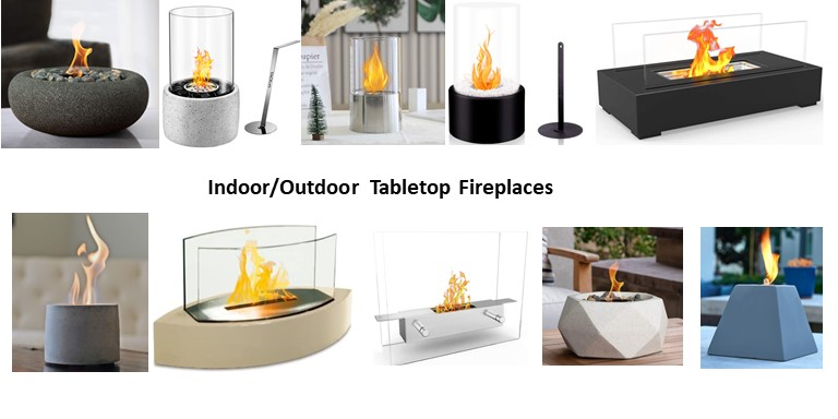 10 Tabletop Fireplaces