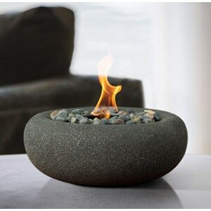 Terra Flame Bowl Tabletop Fireplace Graphite