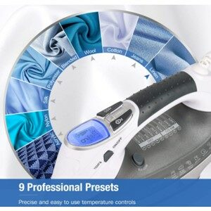 BEAUTURAL 1800W Steam Iron 9 Preset Features