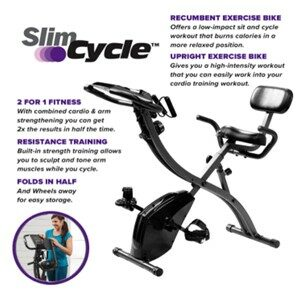 Slim Cycle Exercise Bike Features