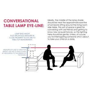 Conversational Table Lamp Eye-Line