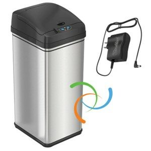 iTouchless 13 Gallon wAdapter Trash Can