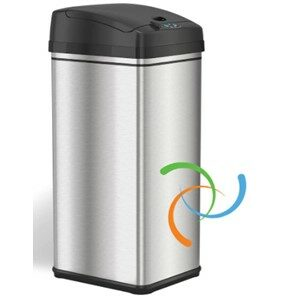 iTouchless DZT13P 13 Gallon Trash Can