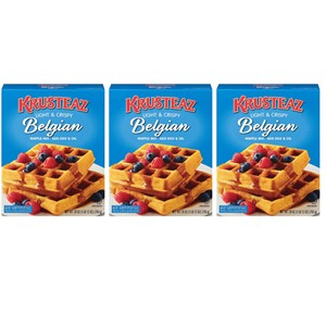 Krusteaz Light & Crispy Belgian Waffle Mix 3 Pack